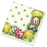 """Салфетки бумажные 3сл., 33x33, """"Пасхальные яйца №1"""", 20шт."""