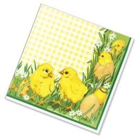 "Салфетки бумажные 3сл., 33x33, ""Цыплята"", 20шт."