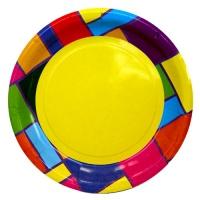 """Тарелки бумажные """"Цветное рандеву"""", 23см"""