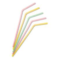Трубочки   с изгибом «Флуоресцентные»,21 см