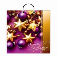 Новогодний подарочный пакет Фейерверк 40х44 см, 100 мкм, новогодняя упаковка оптом