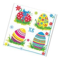 """Салфетки бумажные 1 сл., 25x25, """"Пасхальные яйца"""", 40шт."""