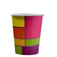 "Стаканы бумажные ""Цветное рандеву"", 250мл"