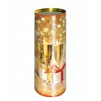 """Картонные тубы """"Свечи"""" для шампанского, подарочная новогодняя упаковка, тубус"""