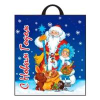 Новогодний подарочный пакет Праздничный мешок 38х42 см, 40 мкм, новогодняя упаковка
