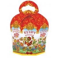 """Коробка подарочная """"Пасхальный орнамент"""" для кулича, 300-350 гр"""