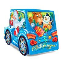 Новогодняя подарочная упаковка «Машинка» 1400 г, картонная коробка для подарков, конфет