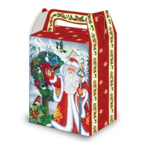 Новогодняя подарочная коробка «Птички 1,0» 1000 гр, новогодняя упаковка для конфет