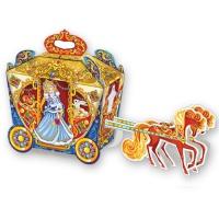 """Новогодняя упаковка """"Карета золотая"""" 1200 гр, картонная подарочная коробка для конфет"""