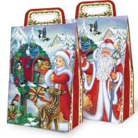 """Новогодняя упаковка """"Птички"""" 2000 гр, картонная подарочная коробка для конфет"""