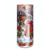 """Подарочные картонные тубы """"Птички"""" 1500 гр, новогодняя упаковка"""