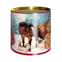 Подарочные картонные тубы «Поздравляю» 500 гр, новогодняя упаковка
