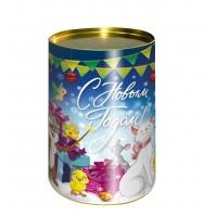 Подарочные картонные тубы «Дружок» 700 гр для новогодних подарков