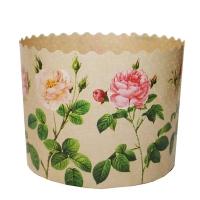 Бумажные формы для куличей «Розы» 70х85 мм, 120-150 гр