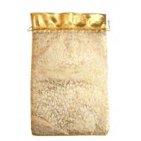 Мешочек из органзы Кайма Золотой, 350х250 мм