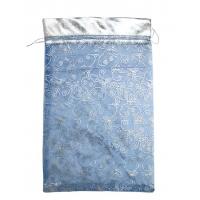 Мешочек из органзы Кайма Синий, 350х250мм, текстильная упаковка для подарков