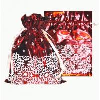 """Подарочный мешок  """"Орнамент"""" металлик, для подарков"""