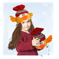 """Подарочный мешок-шапка """"Петушок"""", текстильная упаковка"""
