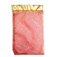 Мешочек из органзы Кайма Красный 350х250мм
