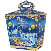 """Новогодняя упаковка """"Добрая сказка"""" 1500гр, картонная подарочная коробка для конфет"""