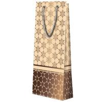 """Подарочный бумажный пакет """"Бежевый"""", В, веревочные ручки   новогодняя подарочная упаковка"""