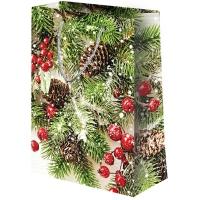"""Новогодний подарочный пакет """"Микс Новый год №2"""" XL, новогодняя упаковка"""