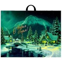 Пакет новогодний Дивный лес, 71х55 см, 90 мкм