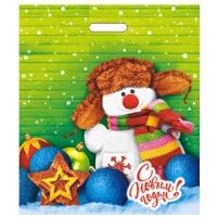 Пакет новогодний Снежок, 40х47 см, 45 мкм