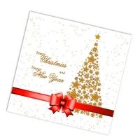 """Салфетки бумажные 2сл., 33x33, """"Подарок красная лента"""", 20шт."""