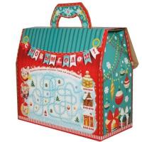 """Новогодняя упаковка """"Портфельчик-Три поросенка"""" 1800 гр, картонная подарочная коробка для конфет"""