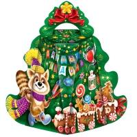 """Подарочная коробка """"Малая Ёлка-Хоровод"""", 300 гр, картонная новогодняя упаковка для конфет, подарков"""