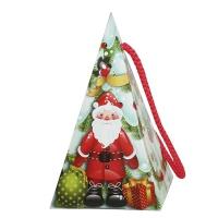 Новогодняя подарочная коробка «Снежная пирамидка» 300 гр, новогодняя упаковка для конфет