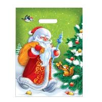 Пакет новогодний Дед Мороз, 30х40 см, 35 мкм