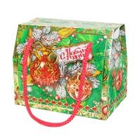 """Новогодняя упаковка """"Шарики"""", 800 гр, картонная подарочная коробка для конфет"""
