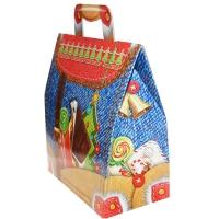 """Новогодняя упаковка """"Зимний портфель"""", 1500 гр, картонная подарочная коробка"""