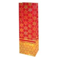 """Бумажный подарочный пакет """"Люкс"""" красный тиснение, В"""
