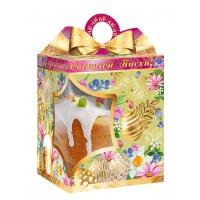 Коробка подарочная  «Золотой бант» с окном, 750-800 гр