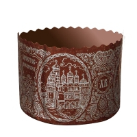 Форма бумажная Собор Серебро, 110х85 мм, 300-350 гр