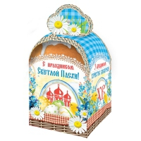 """Коробка подарочная  """"Пасха-корзинка"""" ,  для кулича 300-350 гр"""