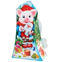 """Новогодняя подарочная коробка """"Сокровище"""" 800 гр, новогодняя упаковка 2019 с символом года свиньи"""