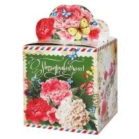 """Подарочная упаковка """"Пионы"""", 400 гр"""