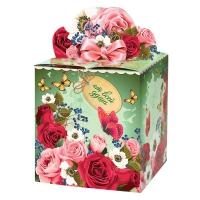 """Подарочная упаковка """"Розы"""", 400 гр"""