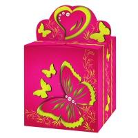 "Коробка подарочная ""Бабочка розовая"", 400 гр"