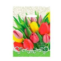 """Пакет """"Тюльпаны"""" 30х40, 35 мкм"""