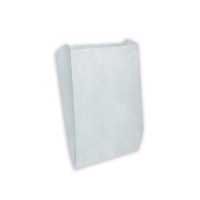 Пакет бумажный с плоским дном, 80х45х185, белый