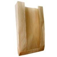 Пакет бумажный с окном, 110(50)х40х260