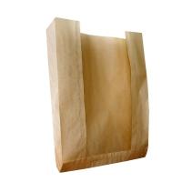 Пакет бумажный с окном, 230(120)х55х295