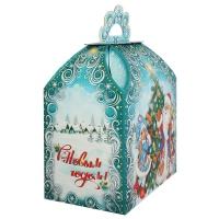 """Новогодняя подарочная упаковка """"Морозко 1.0"""", 1000 гр, картонная коробка для детских подарков, конфет"""