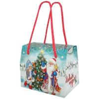 """Подарочная упаковка """"Морозко 0.8"""", 800 гр, картонная новогодняя упаковка для конфет"""
