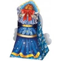 """Подарочная упаковка """"Снегурочка 0.8"""", 800 гр, картонная новогодняя упаковка для конфет, детских подарков"""